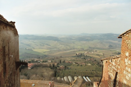 View of countryside from the town of Montepulciano (Photo ©Tom Hyland)